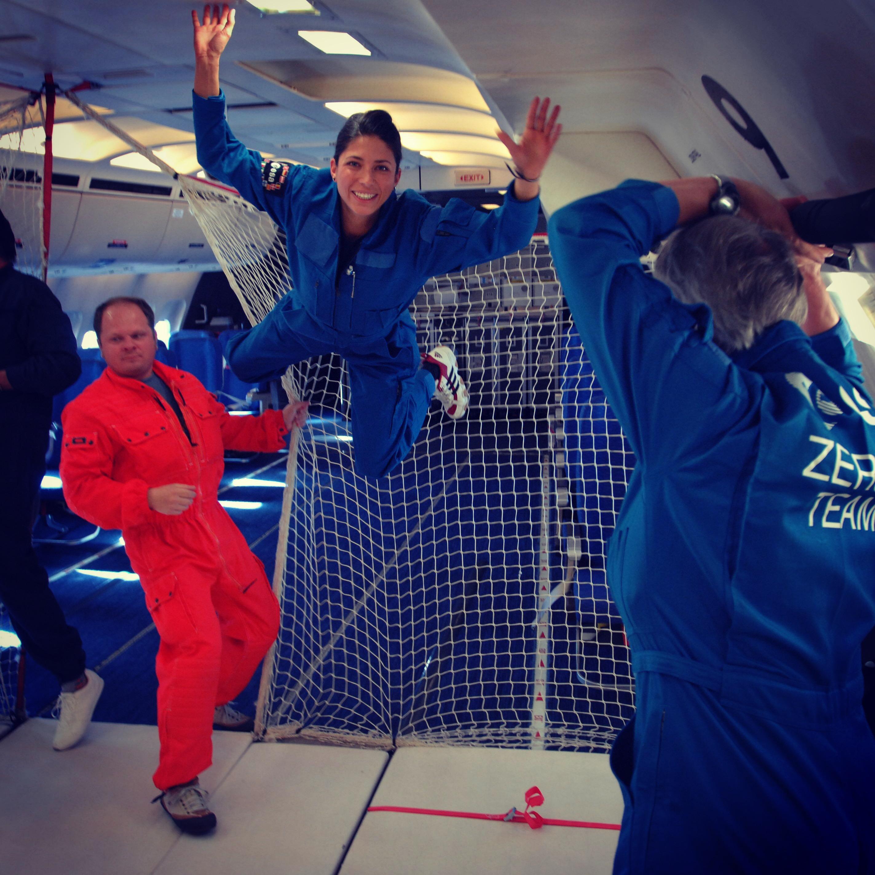 Laura Winterling ESA Parabolic Flight